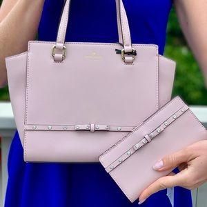 Kate Spade Jeweled Small Hadlee Purse/ Wallet Set